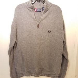 Ralph Lauren Chaps 1/4 zip sweater size lg